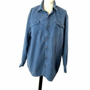 Duluth Trading Co Burlyweight Chamois  Button Down